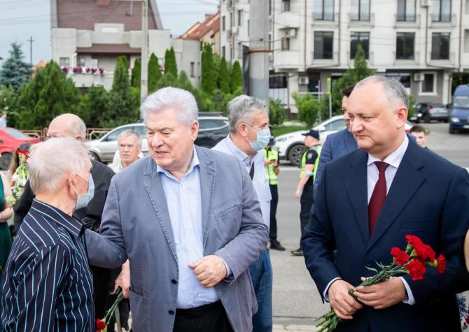 Vladimir Voronin, liderul comuniștilor din Republica Moldova, și Igor Dodon, liderul socialiștilor, fost președinte al țării și membru în partidul condus de Voronin. Sursă foto: Igor Dodon Facebook