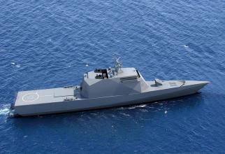 Mercury Project 20386, corveta stealth a Rusiei, imagine concept via. NavyRecognition.com