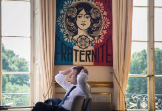 Președintele francez Emmanuel Macron, sursă foto Administrația Prezidențială a Franței.  Élysée – Présidence de la République française