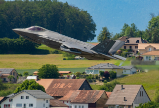 O aeronavă F-35, în timpul unui zbor demonstrativ în Elveția, în 2019. Sursă foto: Lockheed Martin