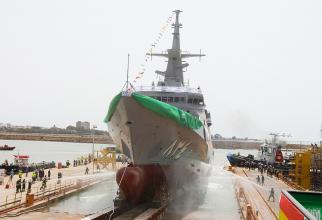 Cea de a patra corvetă pentru Marina Regală Saudită, HMS Jazan, a fost lansată la apă  Sursa foto: Navantia