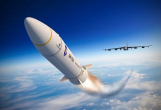 Racheta americană hipersonică AGM-183A ARRW - Air-launched Rapid Response Weapon, sursă foto: Davis @DLT649 - Twitter