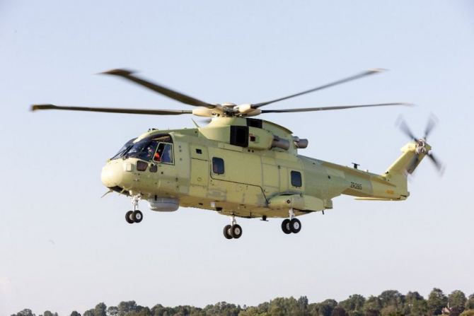 Elicopter Leonardo AW 101 Merlin Sursa foto: Mariusz Blaszczak/Twitter