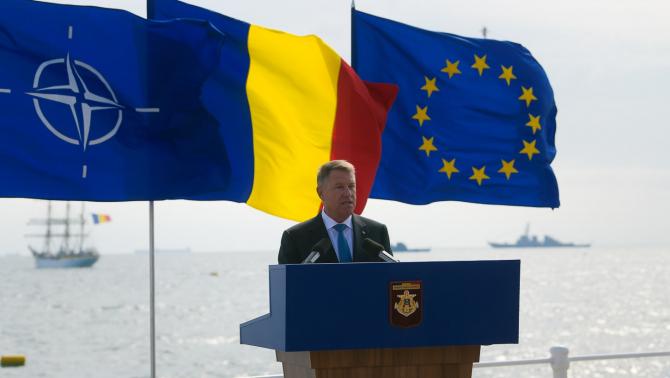 Președintele Klaus Iohannis, în timpul discursului de Ziua Marinei din 2019. Sursă foto: Administrația Prezidențială