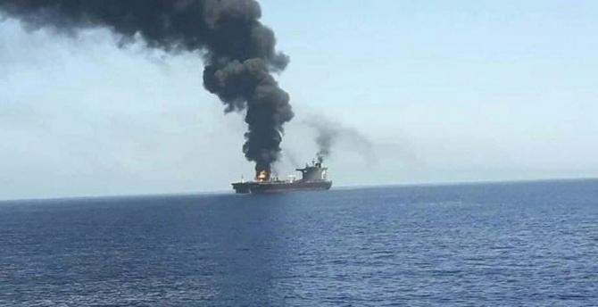 Nava cargo CSAV Tyndall - Israel Sursa foto: Terror Alarm/Twitter