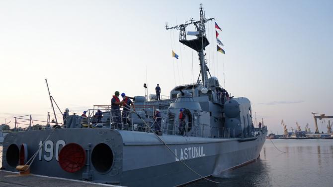 Nava putătoare de rachete Lăstunul Sursa foto: Forțele Navale Române