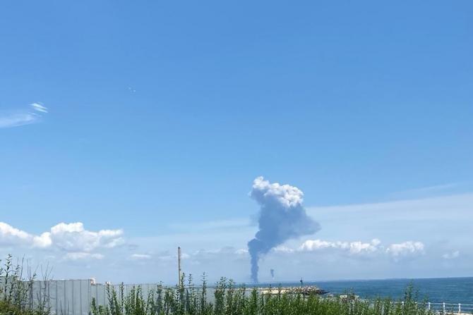 Explozie Petromidia. Sursa: Garda de Mediu Constanța via. DC News