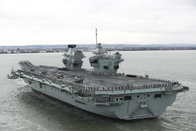 Portavionul HMS Prince of Wales, sursă foto: Royal Navy