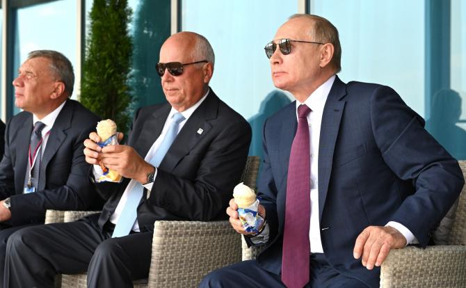 Președintele rus Vladimir Putin, la expoziția de armament MAKS 2021. Sursă foto: Kremlin