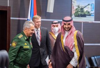 """Viceministrul saudit al apărării, prințul Khalid bin Salman, la forumul """"Armata 2021""""."""