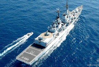 Distrugătorul italian Luigi Durand de la Penne. Sursă foto: Marina Italiana via Helis.com
