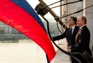 Foto: Premierul maghiar Viktor Orban și președintele rus Vladimir Putin