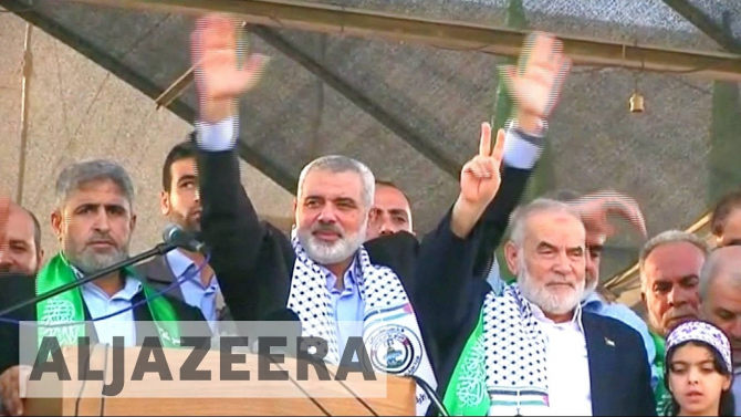 Ismail Haniyeh, liderul Hamas, sursă foto: Captură YouTube Canal Al Jazeera English