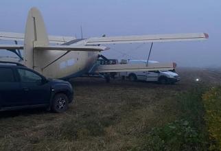Aeronava de contrabandă AN-2, capturată de moldoveni. Sursă foto: Poliția de Frontieră a Republicii Moldova