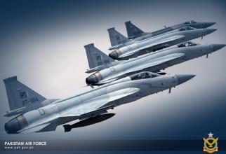 JF-17 Thunder, sursă foto: Ministerul Apărării din Pakistan via WallpaperSafari