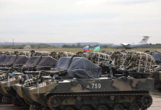 Imagini de la misiunea de parașutare a unui batalion de desant aerian rus. Sursă foto: Ministerul Apărării din Federația Rusă