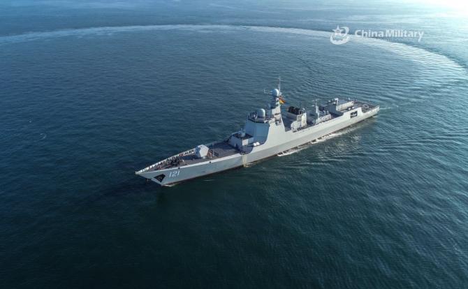 Distrugător chinez din clasa Type 052D. Sursă foto: Ministerul Apărării de la Beijing