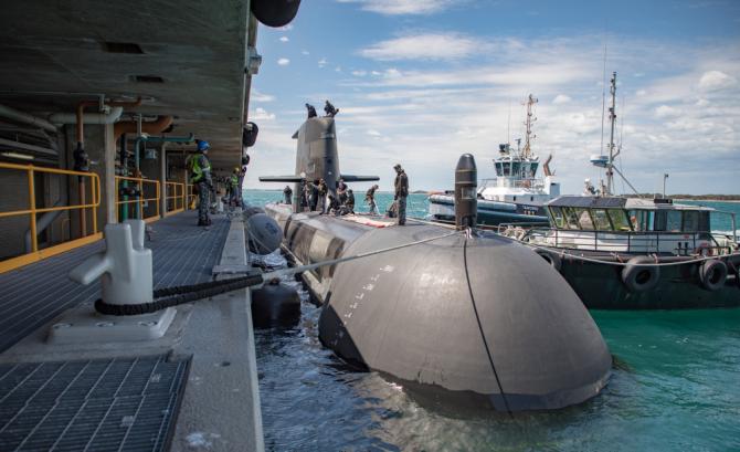 Submarinul HMAS Collins. Sursă foto: Forțele Navale Regale Australiene