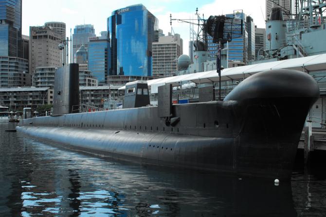 Submarinul HMAS Onslow, din clasa Oberon, la Sydney. Sursă foto: Australian National Maritime Museum