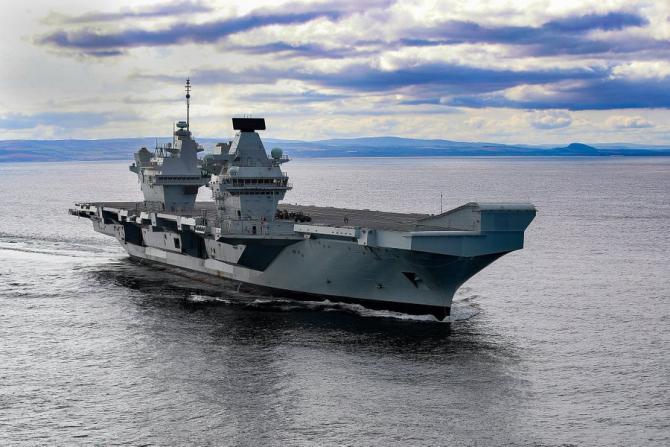 Portavionul britanic HMS Prince of Wales, sursă foto: HMS Prince of Wales official @HMSPWLS Twitter