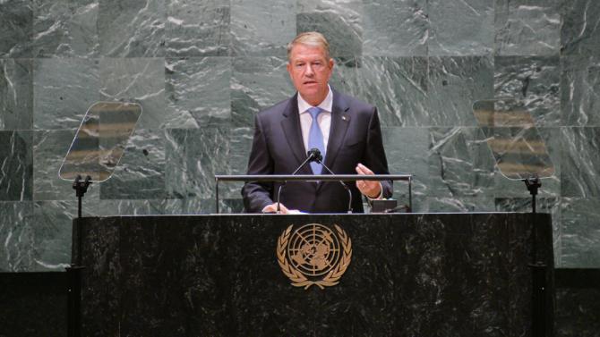 Discursul președintelui Klaus Iohannis la ONU, sursă foto: Administrația Prezidențială