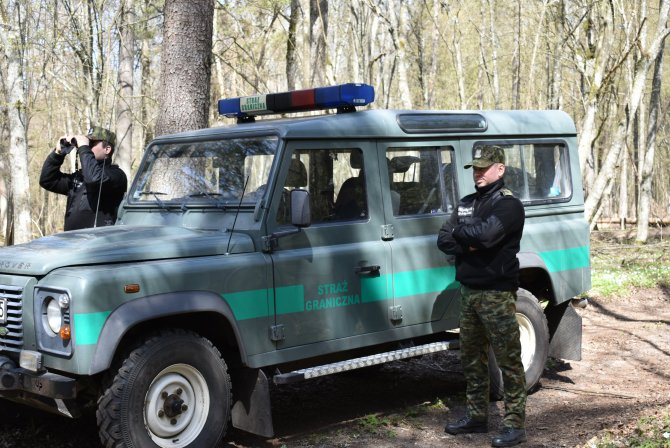 Poliţia de frontieră poloneză (SG). Sursa Foto: Twitter Straż Graniczna