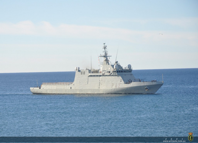 Nava spaniolă Rayo, sursă foto: Ministerul Apărării de la Madrid