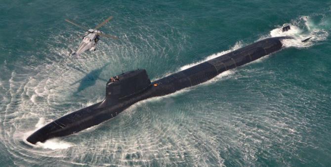 Submarinul francez Suffren, clasa Barracuda. Sursă foto: AGASM - Association Generale des Amicales de Sous-Mariniers