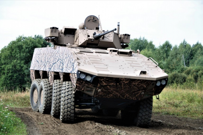 transportorul blindat PATRIA AMV