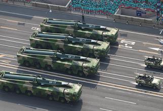 Rachete DF-17, China. Sursă foto: Ministerul Apărării de la Beijing