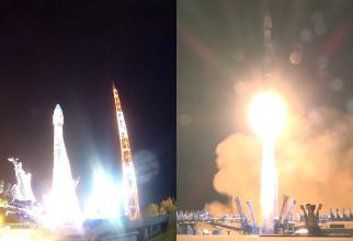 Lansarea satelitului rusesc Kosmos-2551, care ulterior s-a prăbușit de pe orbită. Sursă foto: Captură YouTube