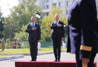 Ministrul Nicolae Ciucă și Klaus Iohannis, președintele României. Sursă foto: Nicolae Ciucă @Official Facebook