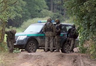 Poliţia de frontieră poloneză (SG). Sursa Foto: Twitter Straż Graniczna.