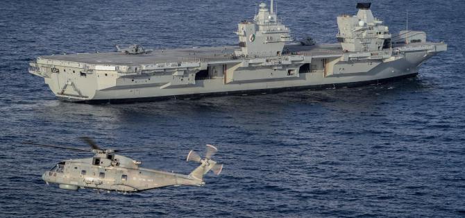 Portavionul britanic HMS Queen Elizabeth, sursă foto: Royal Navy