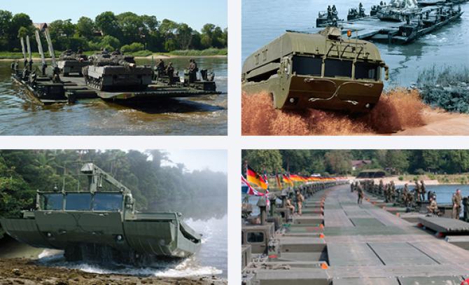 Sistem amfibiu de poduri și feriboturi M3, sursă foto: General Dynamics