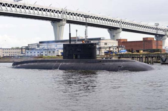 Submarinul rus Magadan, sursă foto: Ministerul Apărării de la Moscova