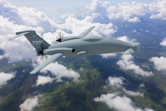Drona P1.HH  - Hammerhead, sursă foto: Piaggio Aerospace