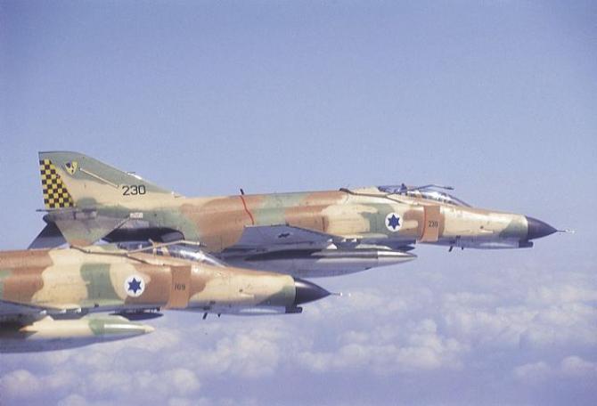 McDonnell Douglas F-4 Phantom, Israel. Sursă foto: Forțele Aeriene Israeliene