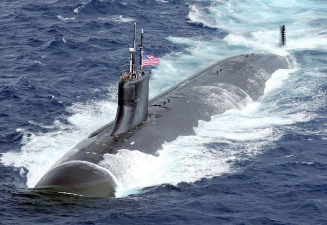 Submarinul nuclear american USS Connecticut, sursă foto: United States Department of Defense